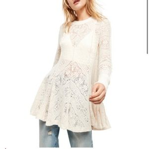 Free People Coffee In The Morning Tunic NWT Size S